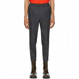 Ami Alexandre Mattiussi Grey Elasticated Waist Trousers E20HT206.207