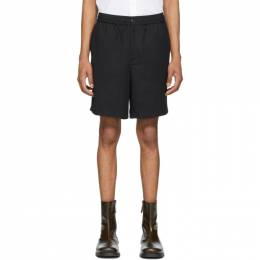 Ami Alexandre Mattiussi Black Elasticized Waistband Bermuda Shorts E20HT300.246