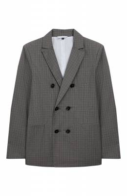 Хлопковый пиджак Emporio Armani 3H4GJ4/4N3KZ