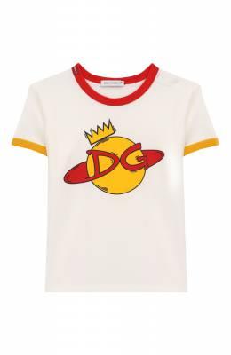 Хлопковая футболка Dolce&Gabbana L1JTBC/G7V00