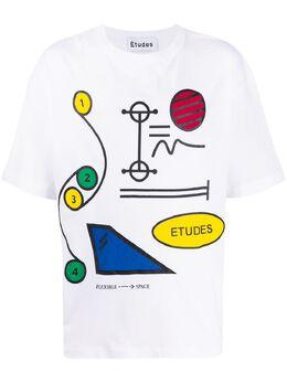Etudes футболка с абстрактным принтом E16M441P2