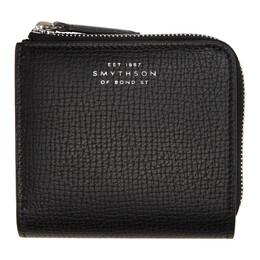 Smythson Black Zip Around Bifold Wallet 1025992