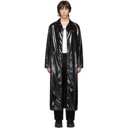 Marine Serre Black Patent Raincoat C003SS20M