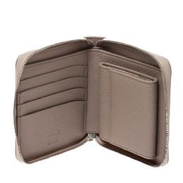 Montblanc Beige Leather Meisterstuck 4CC Zip Around Wallet 277792