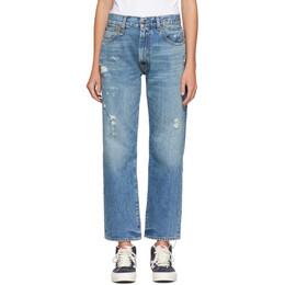 R13 Blue Distressed Boyfriend Jeans R13W5083-969
