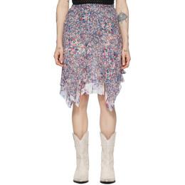 Isabel Marant Multicolor Silk Omyles Skirt JU1162-20E016I