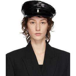 Ann Demeulemeester Black Leather Fisherman Hat 2001-8606-W-286-099