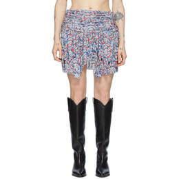 Isabel Marant Blue and Multicolor Santa Skirt JU1134-20E018I