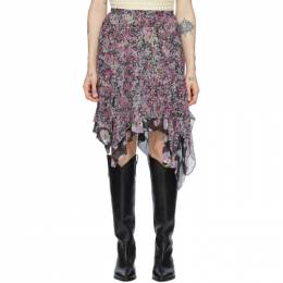 Isabel Marant Purple Silk Omyles Skirt JU1162-20E016I