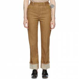 Chloe Brown Denim Trousers CHC20UDP04154