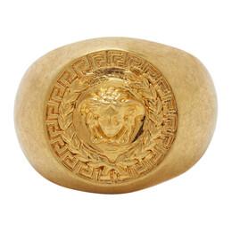 Versace SSENSE Exclusive Gold Medusa Laurel Ring DG58015 DJMT
