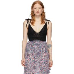 Isabel Marant Black Fuzz Bodysuit BD0034-20E037I
