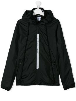 Givenchy Kids куртка с капюшоном и логотипом H2605209B
