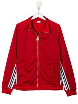 GCDS Kids спортивная куртка с контрастными полосками и логотипом 022495
