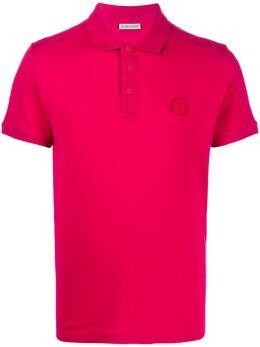 Moncler рубашка поло с нашивкой-логотипом F10918A7100083921