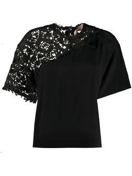 No. 21 футболка мешковатого кроя с вышивкой 20EN2M0G1015262