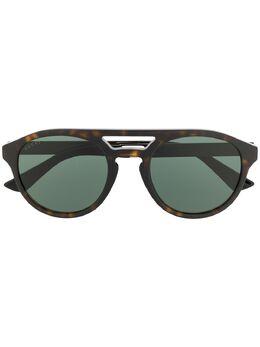 Gucci Eyewear солнцезащитные очки GG0689S в круглой оправе GG0689S002