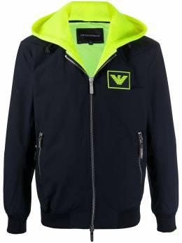 Emporio Armani куртка с капюшоном и нашивкой-логотипом 3H1BA61NLAZ