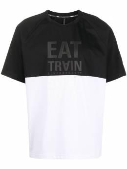 Blackbarrett футболка в стиле колор-блок с надписью XJT3461AX
