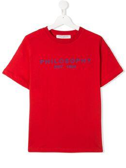 Philosophy Di Lorenzo Serafini Kids футболка с логотипом PJTS29JE138