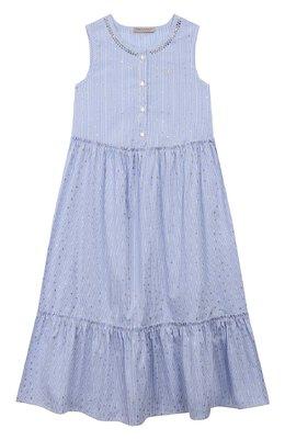 Хлопковое платье Ermanno Scervino 46I AB37 RIS/10-16