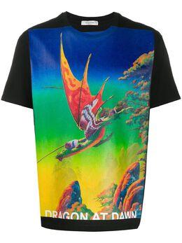 Valentino футболка с принтом Dragons Garden TV0MG06P69H