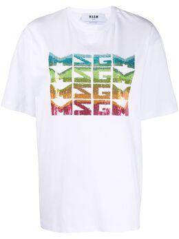 MSGM футболка с логотипом 2842MDM284207498