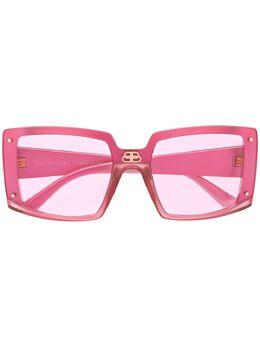 Balenciaga Eyewear солнцезащитные очки Shield в квадратной оправе 609371T0003
