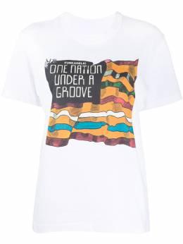 Sacai футболка Funkadelic с круглым вырезом 200104S