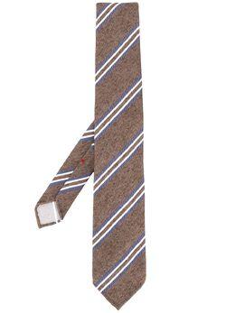 Dell'oglio галстук в диагональную полоску PITTSF127