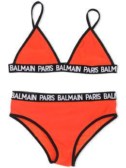 Balmain Kids бикини с логотипом 6M0109MX400