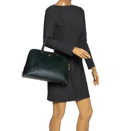 Prada Green Saffiano Lux Leather Promenade Bag 278542
