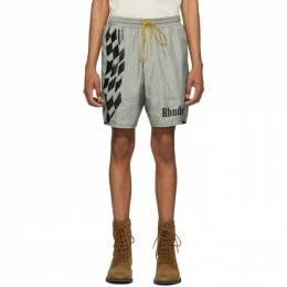 Rhude Silver Warm-Up Shorts RHU07MS20089