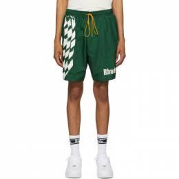 Rhude Green Warm-Up Shorts RHU07MS20092
