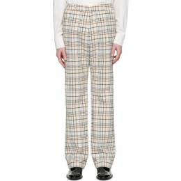 Paco Rabanne Off-White Tartan Trousers 20ECPA082PO0250