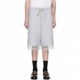 Burberry Grey Chantilly Lace Shorts 4563696