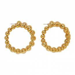 Simon Miller Gold Ram Hoop Earrings S761-8007