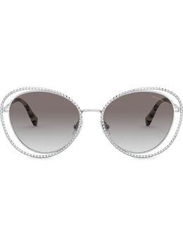Miu Miu Eyewear солнцезащитные очки La Mondaine в оправе 'кошачий глаз' SMU59VC054E1BC