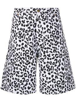 Noon Goons джинсовые шорты с леопардовым принтом NGSS20033