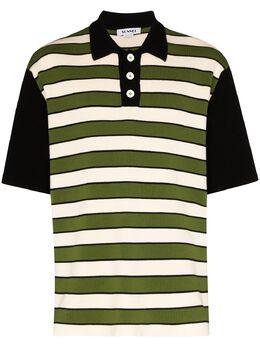 Sunnei трикотажная рубашка-поло в полоску P01