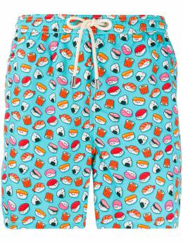 Mc2 Saint Barth плавки-шорты с принтом Sushi LIGHTINGMICRO