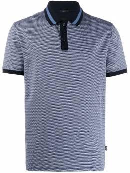 Boss by Hugo Boss рубашка-поло с геометричным принтом 50427884