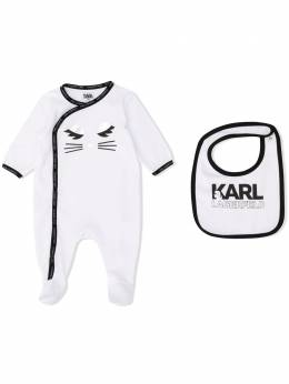 Karl Lagerfeld Kids комплект Choupette из комбинезона и нагрудника Z98053