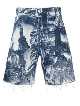 Buscemi джинсовые шорты с принтом BMS20605
