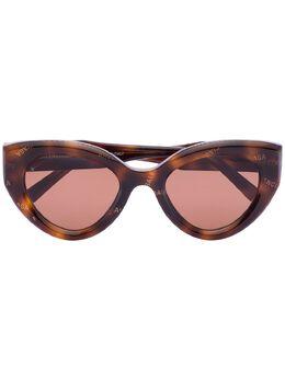 Balenciaga Eyewear солнцезащитные очки Havana черепаховой расцветки BB0073S