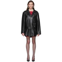 Balenciaga Black Leather 80s Biker Jacket 620767-TIS01