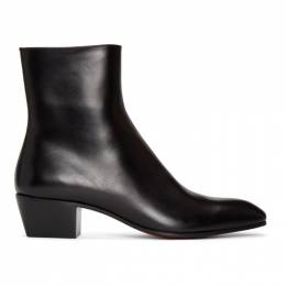 Christian Louboutin Black Jolly Zip Up Boots 1200484