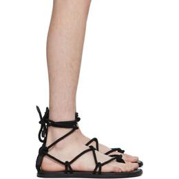 Ann Demeulemeester Black Braided Tucson Sandals 2001-4232-390-099