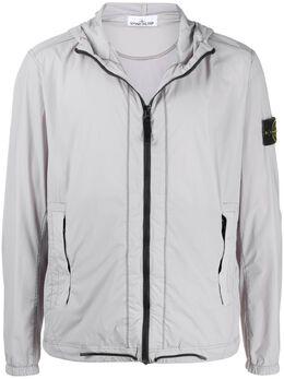Stone Island куртка с капюшоном и нашивкой-логотипом MO721543831
