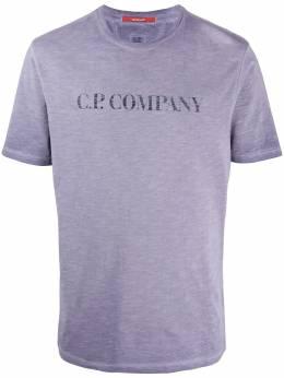 C.P. Company футболка с круглым вырезом и логотипом 08CMTS302A005433S